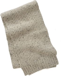 Ribbed Knit Scarf In Oatmeal