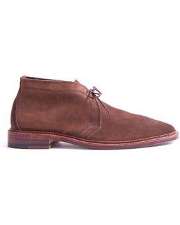 Unlined Chukka Boot In Dark Brown Suede