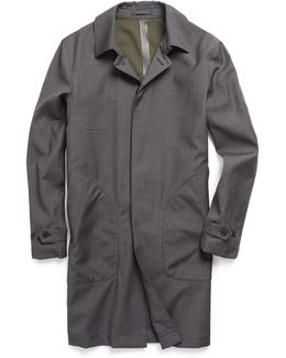 Double Face Trench In Grey