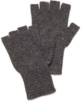 Fingerless Gloves In Charcoal