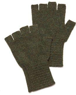 Fingerless Gloves In Olive