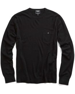 Cashmere T-shirt Sweater In Black