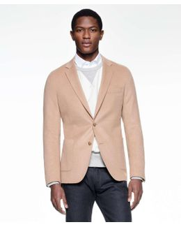 Sutton Unconstructed Sportcoat In Italian Camel Hair