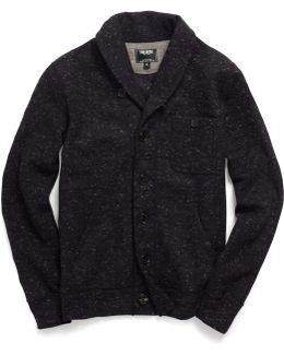 Shawl Knit Cardigan In Black