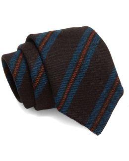 Drake's Wool Stripe Tie