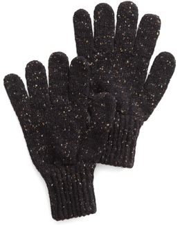 Donegal Wool Glove In Charcoal