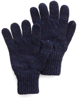 Donegal Wool Glove In Navy