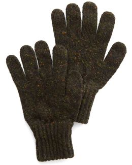 Donegal Wool Gloves In Olive