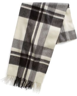 Grey Heather Tartan Scarf