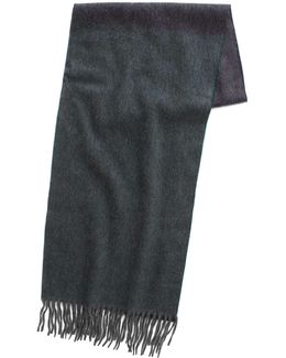 Stripe Scarf In Charcoal Green