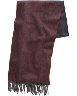 Reversible Scarf In Charcoal Wine