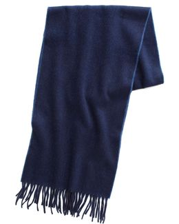 Reversible Scarf In Navy Indigo