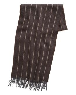 Chalk Stripe Scarf In Brown