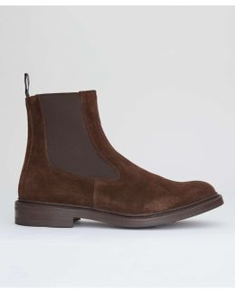 Limited Edition Suede Chelsea Boot In Cafe Brown