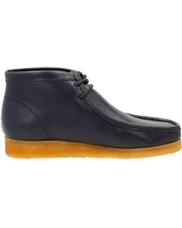 Wallabee In Petrol Blue Leather