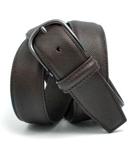 Nappa Calf Belt In Brown