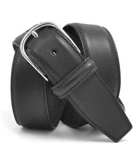 Nappa Calf Belt In Black