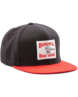Exclusive Birdwell 6-panel Hat In Black With Red Brim