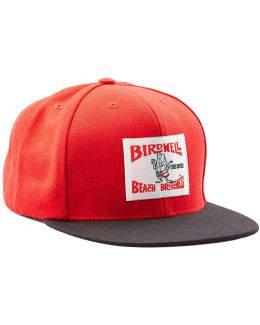 Exclusive Birdwell 6-panel Hat In Red With Black Brim