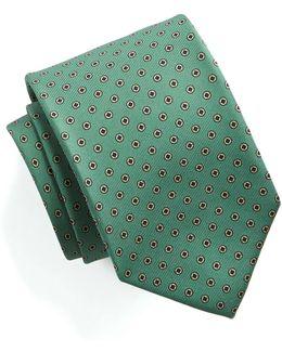 Green Silk Foulard Tie