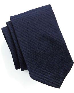Navy Seersucker Tie