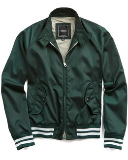 Nylon Barracuda Jacket With Racing Stripes