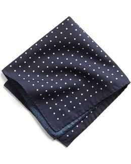 Italian Cotton Polka Dot Pocket Square