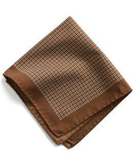 Italian Cotton Square Print Pocket Square