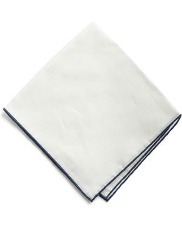 Italian Linen Tipped Pocket Square