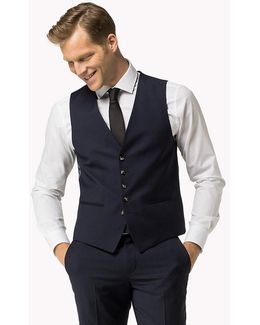 Webster Wool Fitted Waistcoat