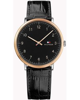 Patent Leather Strap Watch