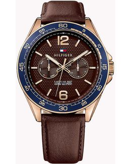Rose Gold Plated Steel Watch