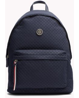 Quilted Argyle Backpack