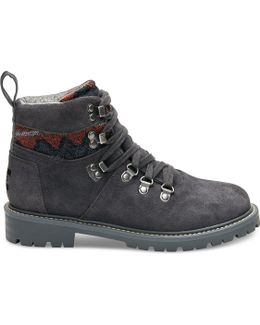 Forged Iron Grey Suede Textile Women's Waterproof Summit Boots