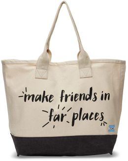 Natural Make Friends In Far Places All Day Tote