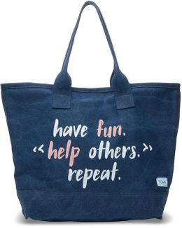 Navy Have Fun Help Others Repeat All Day Tote