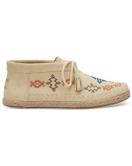 Reed Yellow Suede Embroidered Women's Palmera Chukka Booties