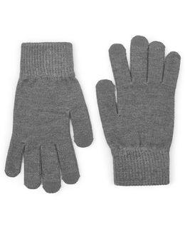 Grey Touchscreen Gloves