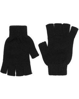 Black Fingerless Gloves