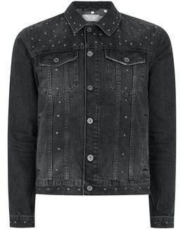 Black Studded Denim Jacket