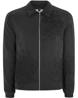 Embroidered Lightweight Harrington Jacket