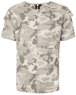 Grey Camo Layered Sleeve T-shirt*