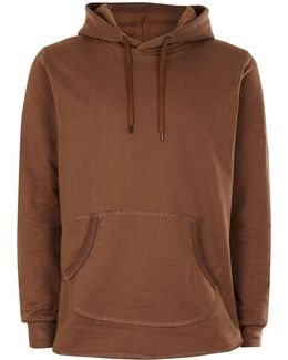 Brown Exposed Seam Hoodie*