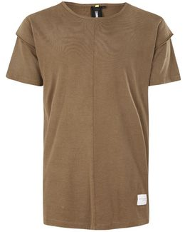Khaki Layered Sleeve T-shirt*