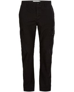 Black Ripstop Cargo Trousers