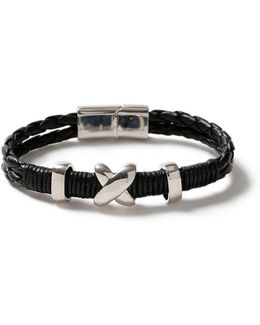 Black Chunky Plaited Bracelet