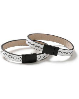 White Embossed Bracelet