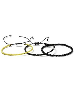 Black And Yellow Blacelet 3 Pack*