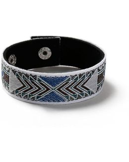 Blue Patterned Popper Bracelet*
