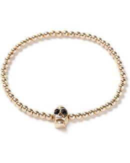 Gold Skull Bead Bracelet*